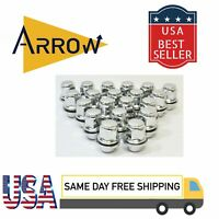 """20 12X1.5"""" CHROME OEM MAG LUG NUTS WITH WASHERS [FIT: TOYOTA]"""
