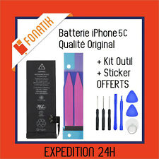 BATTERIE IPHONE 5C INTERNE NEUVE 0 CYCLE 1510 mAh + KIT OUTILS + STICKER OFFERTS