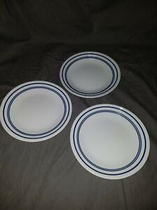 "3 - CORNING CORELLE - CLASSIC CAFE BLUE-  6 3/4"" BREAD / DESSERT PLATES"