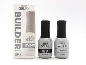 Orly BUILDER IN A BOTTLE GelFx Essentials Bundle Nail Tip Primer, Topcoat .6 fl