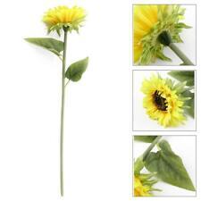 DIY Artifical Sunflowers Fake Silk Flower Floral Single Stem Bouquet Home Garden