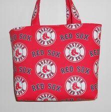Handmade MLB Boston Red Sox Tote Purse Bag