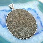 Prophet Muhammad's Hilya and 12 Imams Engraving Pendant on Natural Onyx