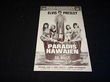 elvis presley PARADIS HAWAIEN  scenario presse cinema 1966