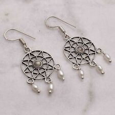 "Pearl  Handmade Drop Dangle Earrings Jewelry 1.88"" AE 55246"