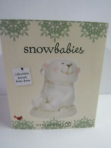 Dept 56 Snowbabies Collectible Animal Baby Bear Sitting 6004931