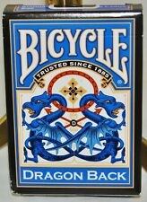 Bicycle Dragon Back (Blue) Standard Size Playing Cards - Sealed New Deck, USPCC