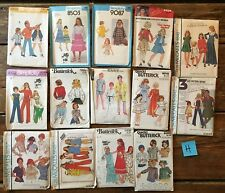 Vintage Simplicity McCall's Butterick sewing pattern lot girls boys 6 8 10 1970s