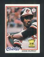 1978 Topps #36 Eddie Murray EX+ RC Rookie Orioles 121173