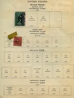 UNITED STATES LOT V OF MINT AND USED  REVENUES  AS SHOWN