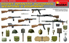 Miniart 1:35 Soviet Infantry Automatic Weapons & Equipment WWII Era Model Kit