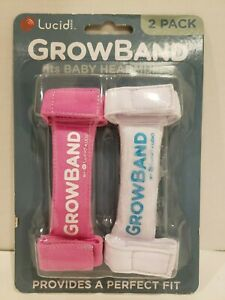 Lucid Audio HearMuffs GrowBand 2 Pack Newborn 4 Years white and pink