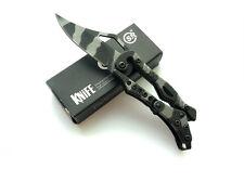 Mini Cute SR Stainless Steel Mechanical Lock Saber Fishing Folding Knife Pocket