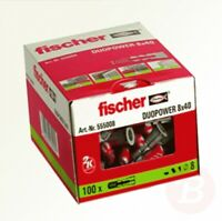 Fischer DUOPOWER Nylon High Performance Wall Plug 555006 6x30