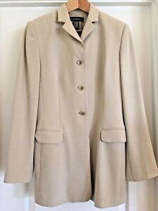 Silk Twill Suit Tailored Jacket Two Skirts Tan and Black Sz 8 Banana Republic