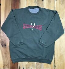 437be4ba2 Vintage Guess Jeans Medium Spellout Sweat Shirt Green Solid Pattern Red  Letters