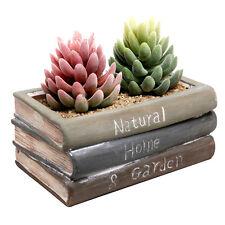 Ceramic Planter Flower Pot Vintage Plant Box Container Garden Patio Desk Decor
