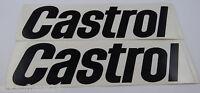 Auto-Aufkleber CASTROL Schriftzug 2 Stück 20 cm schwarz Motorsport Oldtimer