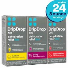 DripDrop ORS Electrolyte Hydration Powder Sticks Lemon/Berry/Watermelon Variety