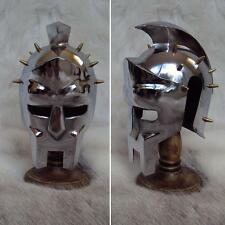 Magnificent - Mini Gladiator Helmet With Hardwood Stand For Display / Decoration