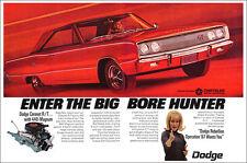 13x19 1967 DODGE CORONET R/T POSTER ART PRINT AD MOPAR SCAT PACK HOT ONE 440 RT