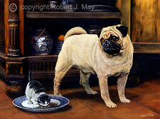 Pug Limited Edition Print by Robert May