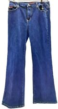 Baby Phat Dark Blue Denim Womens Jeans With Gold BP Cat Pocket Size 14