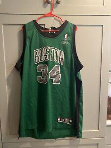 Rare Vintage 90s Champion Boston Celtics Paul Pierce 34 Jersey Mens L 44 Green