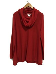 Motherhood Maternity Sweater Large NEW Red Cowl Neck Long Sleeve