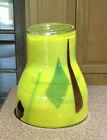 Blenko Opaque Series Opaline Yellow Covered Vase