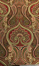 25 Yards Damask Jaclyn Ruby Chenille Upholstery Drapery Sofa fabric