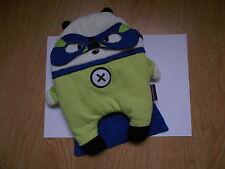 Doudou range pyjama ours super héro SERGENT MAJOR vert bleu masque