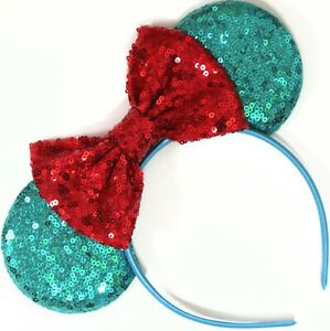 Teal Minnie Ears, Teal Mickey Mouse Ears, Blue  Disney Ears, Green HANDMADE