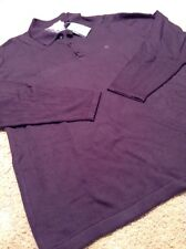 Geoffrey beene sweater size large purple color 60%cotton 40%Rayon with tags