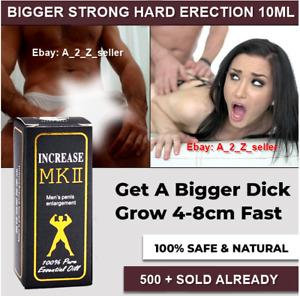 MEN Herbal Penis Enlargement increase size growth extender bigger hard PURE oil