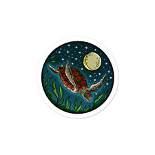 Diving Sea Turtle stickers