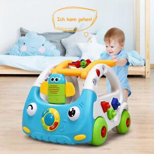 3 in 1 Lauflernhilfe Baby Walker höhenverstellbar Gehfrei Lauflernwagen