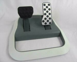 XBOX 360 Microsoft Racing Pedals ONLY White X809215-001 FAST SHIPPING!