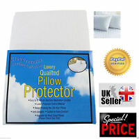 New Anti Allergy Poly Cotton Quilted Luxury Pillow Protectors Hotel Quality Sale