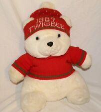 "Vintage 1987 Twigbee Christmas Bear 16"" Plush Higbee's Cleveland OH Sweater"