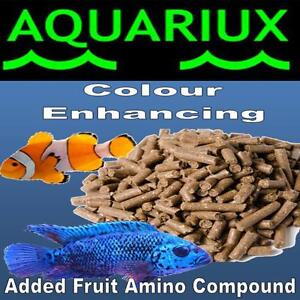 Aquariux Tropical colour enhancing pellets with added fruit amino compound extra