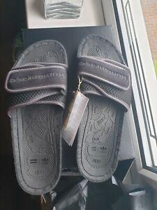 Adidas Originals Pharrell Williams Black Chancletas HU Boost Sliders Uk Size 11