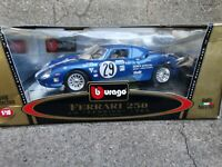 Bburago 1965 Ferrari 250 LM Sebring Mark Donohue #29 1:18 Diecast Race Model Car
