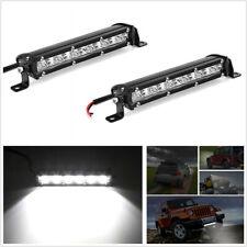 2 Pcs 8'' 120W Slim LED 1-Row Car SUV Work Lights Bar Spot Beam Lamps Waterproof