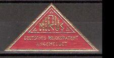Vignette mirus-Deutsches Reich patente ** triángulo marca prägedruck