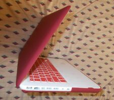 """Apple MacBook A1342 13.3"""" Laptop,  250 GB HDD, With Wine Red Skin Cover"""