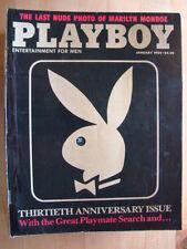 Original Playboy Magazine January 1984 Marilyn Monroe Penny Baker 30th Annivers