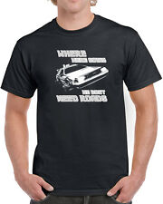 087 Roads mens T-shirt funny back 80s movie to the future back mcfly delorean