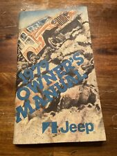 New Listing1979 Amc Jeep Owner's Manual Cj5 Cj7 Cherokee Wagoneer Truck