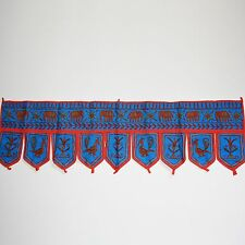 Türbehang Toran Thorang Indien Wandbehang Rajasthan Tapestry  Blau ks